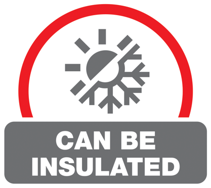 Can be insulated